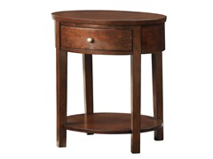 Oval Accent Table - Espresso