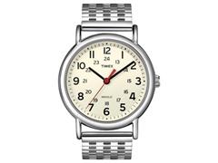 Timex Weekender Watch, Cream w/ Steel
