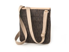 Michael Kors Jet Set Large Crossbody,Brown PVC