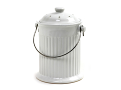 Countertop Compost Pail - White