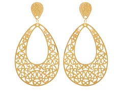 18kt Plated Filigree Drop Earrings