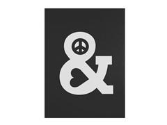 Budi Satria Kwan Peace and Love Dark- Multiple Sizes