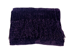Susan Chenille Throw - Purple