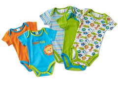 5-Pk Bodysuits - 5 Choices (0M-9M)