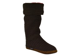 MUK LUKS® Button Cuff Boot, Brown/Red