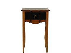 Sologna Black and Cherry Side Table