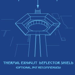 Exhaust Port Deflector Shield (optional)