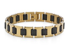 18kt Gold Plated Link Braclet w/ Rubber