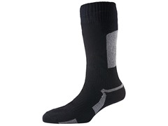 Thin Mid-Length Sock - Black/Grey
