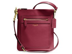 Legacy Leather Swingpack, Brass/Red