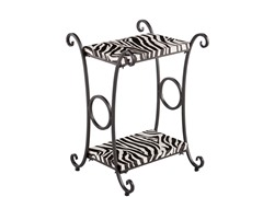 Animal Print Accent Table –  Zebra