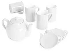 9-Piece Tea Set - White