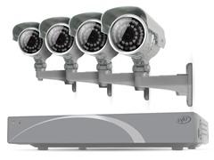 4CH 500GB DVR Kit w/ 4 x 600 TVL Cams