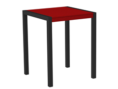 MOD Counter Table, Black/Sunset Red