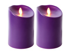 Luminara 2 Pk Indoor/Outdoor Flameless Purple