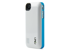 Exera iPhone4/4S Battery Case-White/Blue