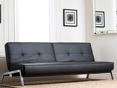 Florence Black Convertible Euro Sofa