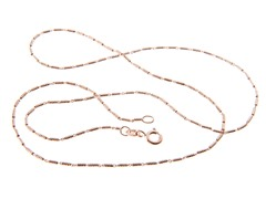 18kt Rose Gold Plated 1 + 1 Tube Chain
