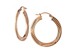 18kt Rose Gold Plated Silver Hoops