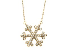 18kt Gold Plated Snowflake Necklace