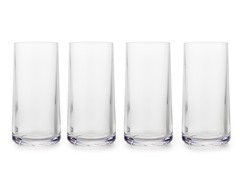 Zak Designs Adele Clear Ice Tea Glasses (4)