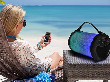 Pro-Tube Portable Bluetooth Boombox