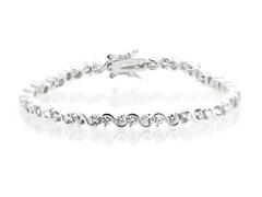 Fine Silver Plated CZ Tennis Bracelet