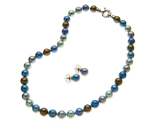 Multicolor 10mm Necklace & Earring Set
