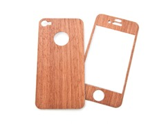 Mootoe Wood Cover for iPhone 4/4S - Redwood