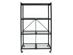 Origami 4-Shelf Steel Collapsible Wheeled Rack, Large