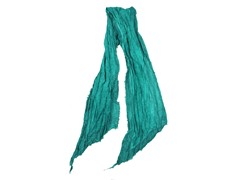 Global Color Layered Frayed Edge Scarf, Green
