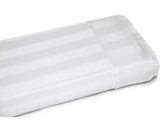 400TC Damask Stripe-White-3 Sizes