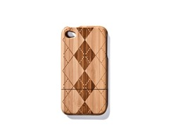Bamboo Argyle Cover for iPhone 4/4S
