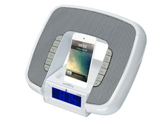 Dual Alarm Clock for iPhone - White