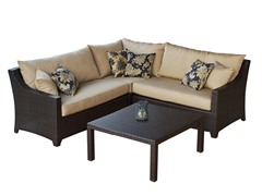 Delano 4-Pc Corner Sectional & Table