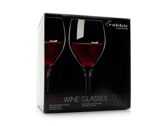 metrokane rabbit supreme crystal wine glass set of 4. Black Bedroom Furniture Sets. Home Design Ideas