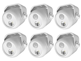 Mr. Beams Mini Spotlight, 80-Lumens, 6-Pack