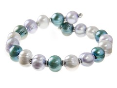 Blue Multi Freshwater Pearl Bangle