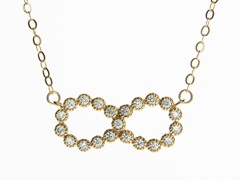 18kt Gold Plated Infinity Necklace