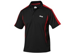 Fila Blocker Polo Shirt - Black/Red (S)