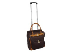 "16"" Rolling Laptop Case - Brown"