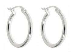 Sterling Silver 20m Huggie Earrings
