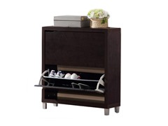 Simms Two Drawer Shoe Cabinet Cappucino