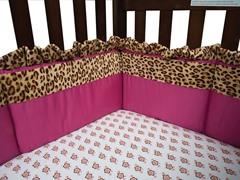 Berry Leopard- Crib Bumper