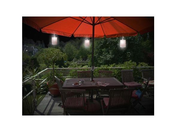 Design Craft 3 Light Solar Umbrella Set Tools Garden