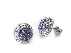 Purple Button Earring