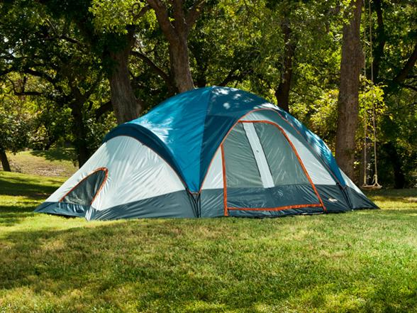 & Mountain Trails Grand Pass 2-Room 6-7 Person Family Dome Tent