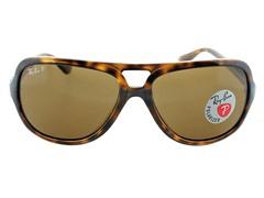 Polarized Aviator Sunglasses, Dk. Havana