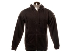 Full Zip-Up Hoodie - Charcoal