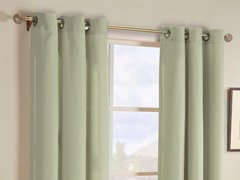 "108"" Gavin Stripe Grommet Panels - Set of 2 - Olive"